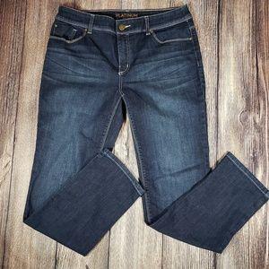 Platinum Chicos dark wash jeans size 1